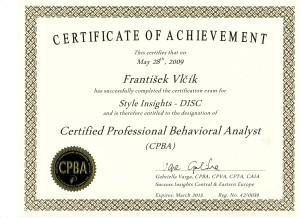 Certifikát DISC