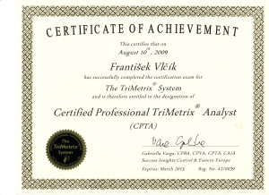 Certifikát Trimetrix