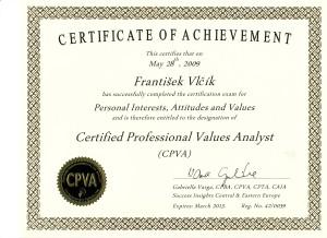 Certifikát PIAV